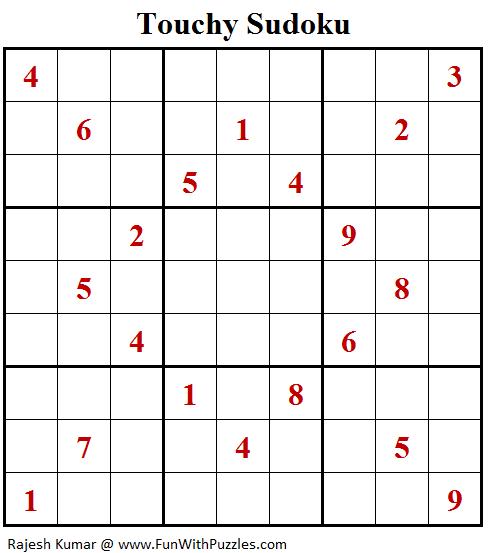 Touchy Sudoku Puzzle (Fun With Sudoku #336)