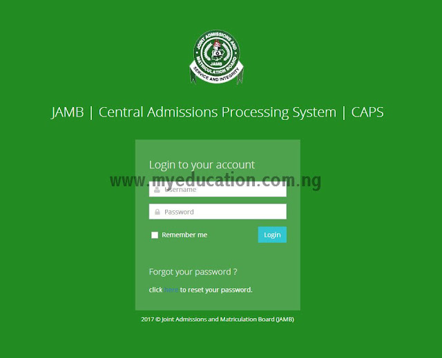 JAMB CAPS Sensitization Programme Schedule