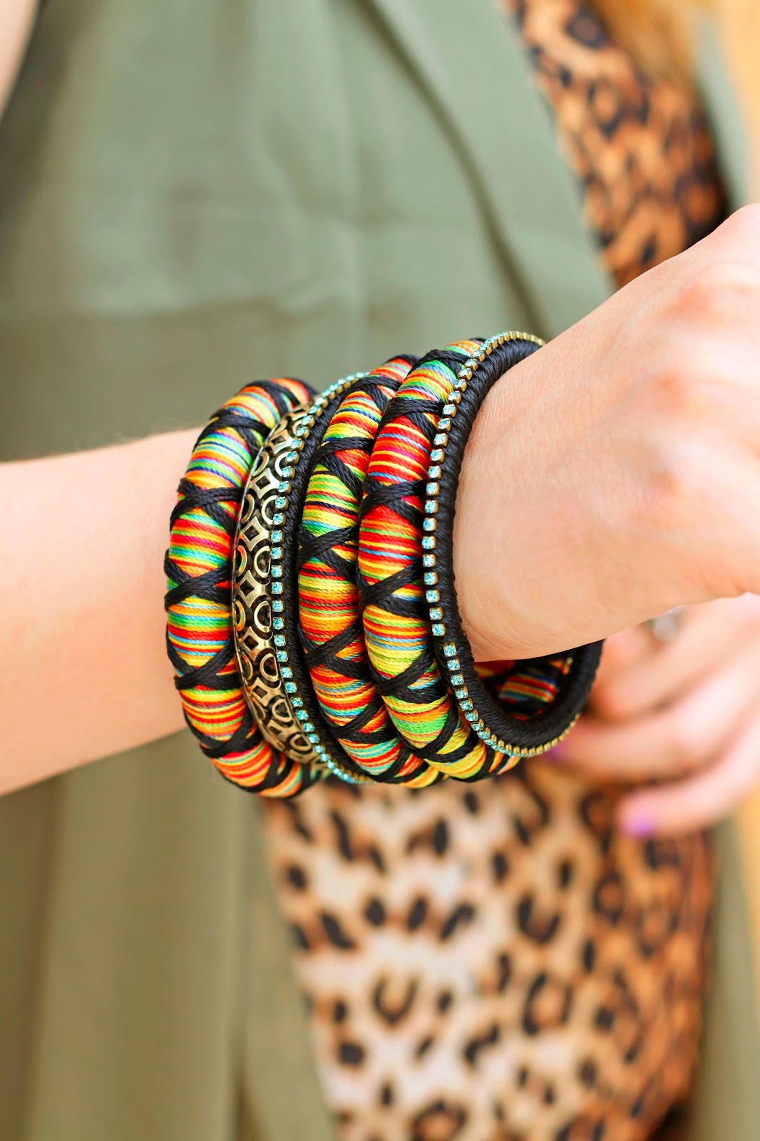 These boho bangle bracelets are perfect for Summer!