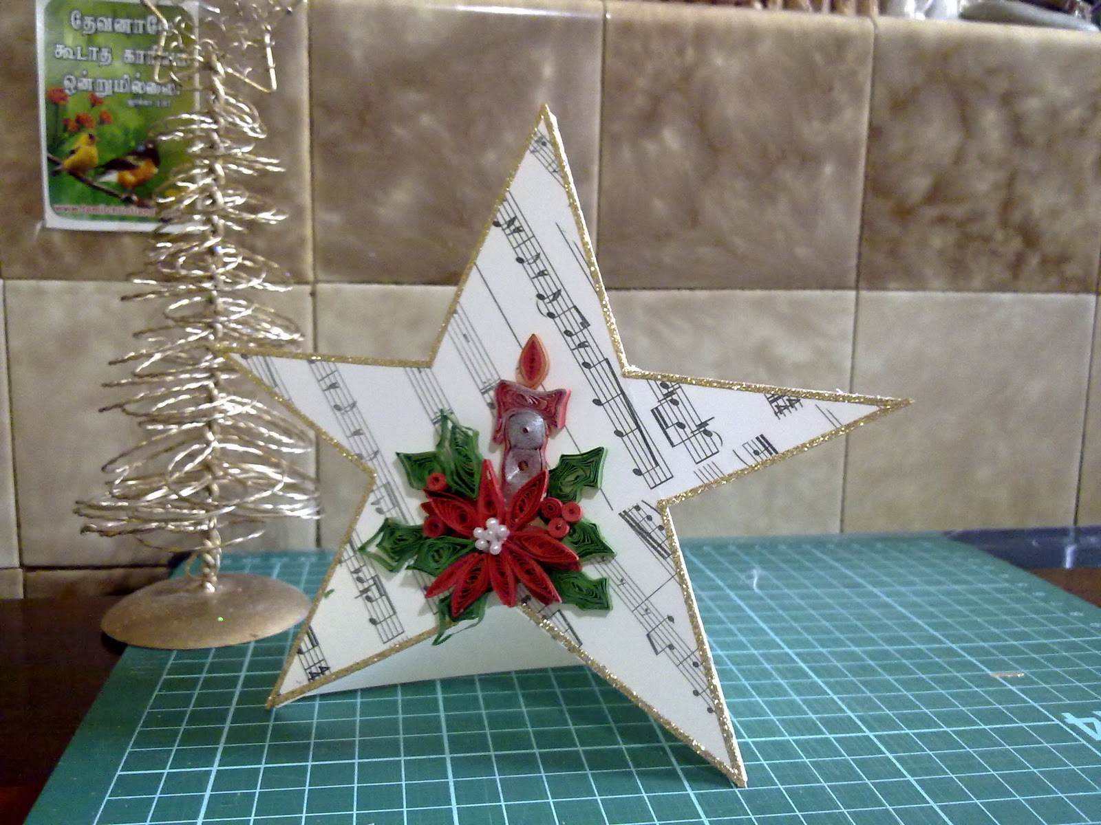 papercrafts  star shaped card    christmas cards