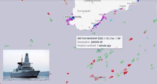 Вблизи берегов Крыма корабли ЧФ России стреляли по британскому эсминцу