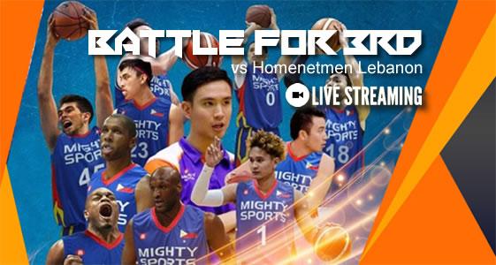 Live Streaming List: Mighty Sports Philippines vs Homenetmen Lebanon 2019 Dubai Basketball Tournament
