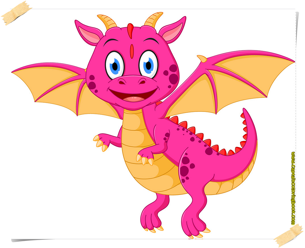 Dragon vector free printable page-Cute cartoon dinosaur dragon ...