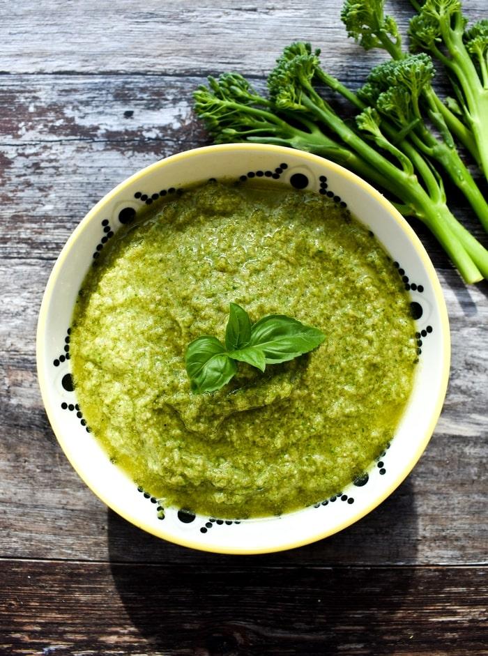 Easy Broccoli Pesto made with tenderstem broccoli