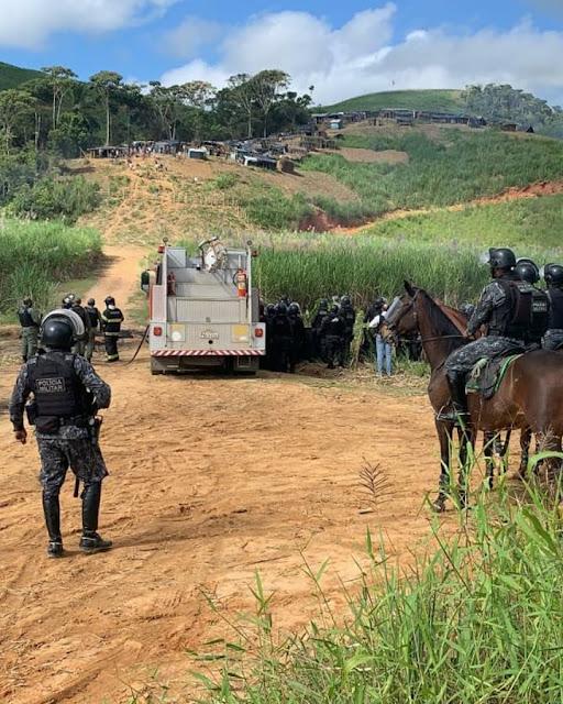 Em Amaraji, Polícia Militar despeja 200 famílias de agricultores sem-terra