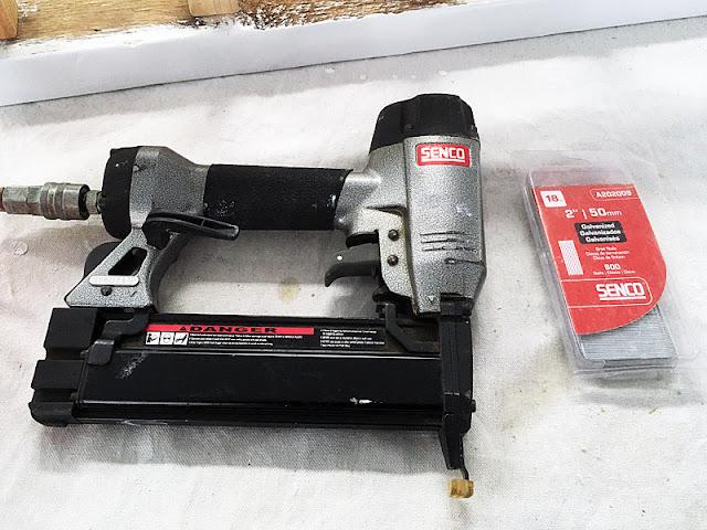 Senco compressor air tank nailgun brad nails railing repair rot fix