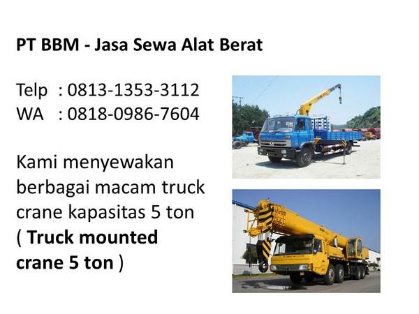 sewa truck mounted crane di bandung dan jakarta