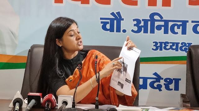 Alka Lamba Holds a Press Conference in Delhi