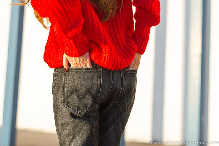 Pantalones vaqueros Jeans rectos negros modelo Lorena de Meltin' Pot