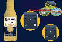 Logo Concorso ''Vinci con Corona'' : 62 zaini Lefrik e 1 voucher ICTtravels da 5000 euro