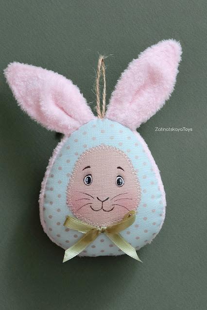 DIY cute fabric egg for Easter basket