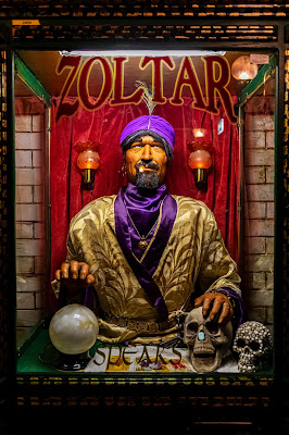 Hulki Okan Tabek: The soothsayer booth at the London Dungeon's exit cafe, via Unsplash - https://unsplash.com/photos/0EX0Q16ScvY