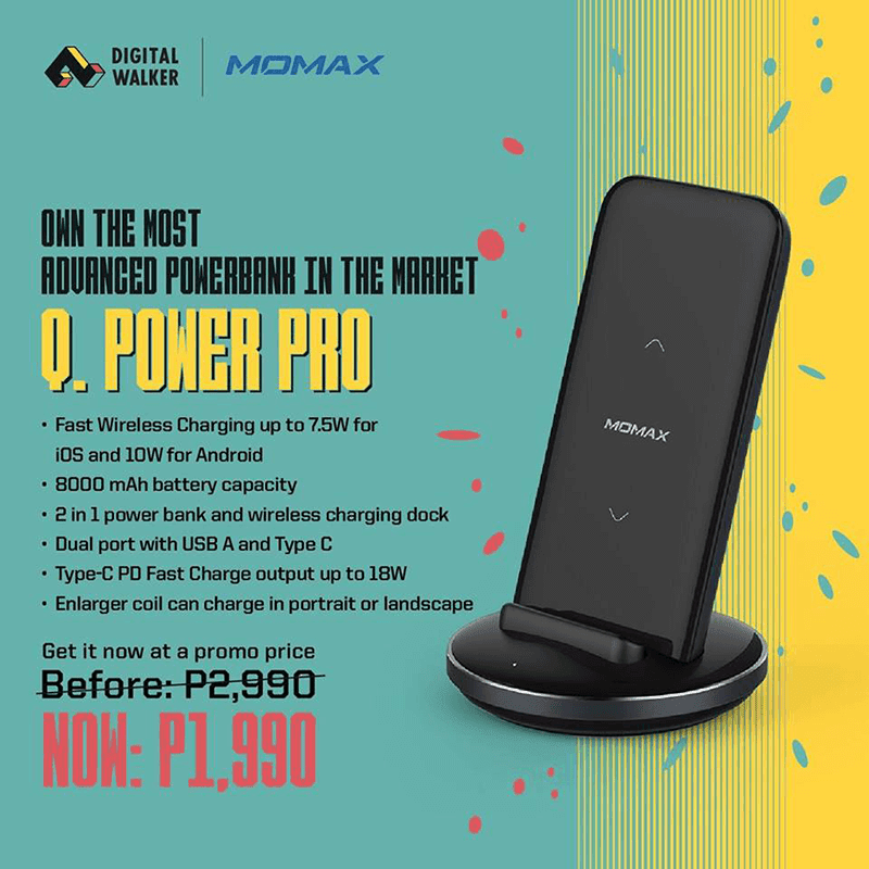 Sale Alert: Momax Q Power Pro 8,000 mAh power bank now down to PHP 1,990!