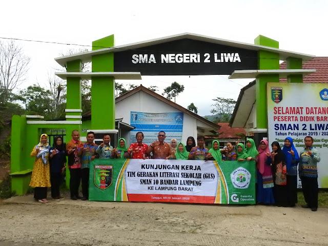 SMAN 10 Bandar Lampung Pelajari Tentang Literasi di Lambar