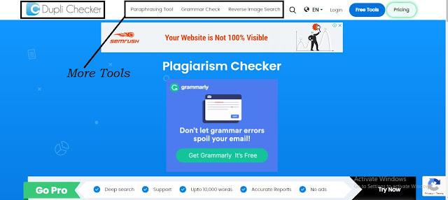 Dupli Checker Official Website