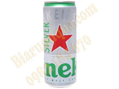 Bia lon Heineken Silver