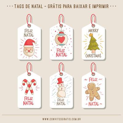 natal tag etiqueta presente gratis baixar imprimir