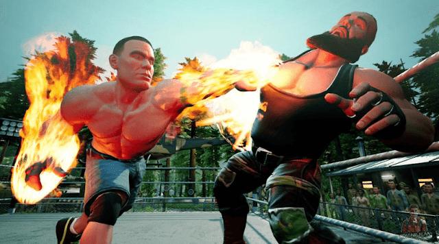 لعبة WWE 2K Battlegrounds مجانا للكمبيوتر