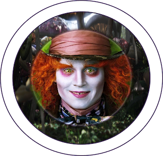 Alice in Wonderland Tim Burton Style Toppers or Free Printable Candy Bar Labels.