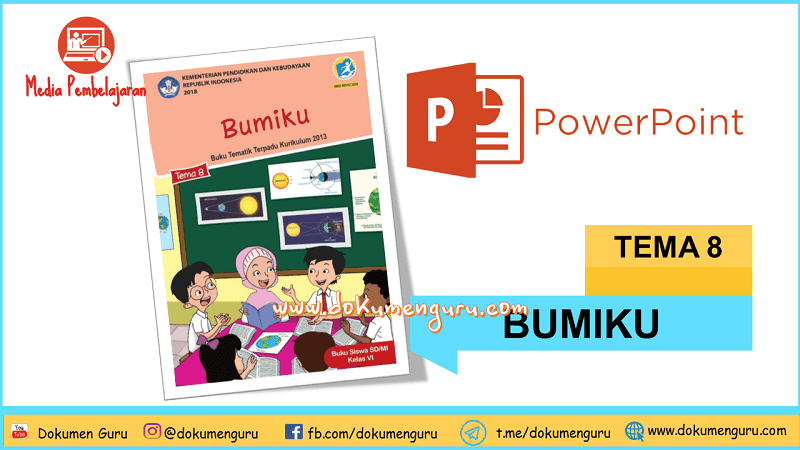 [Download] Media Pembelajaran PowerPoint Kelas 6 SD Tema 8 Bumiku