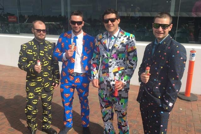 wacky men's suit for Melbourne Cup