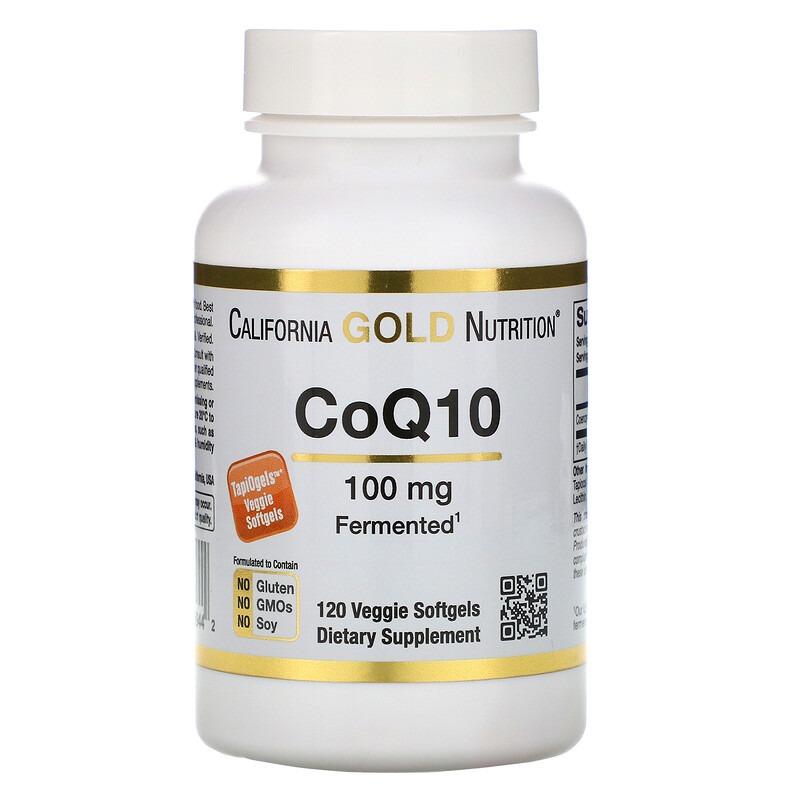 California Gold Nutrition, CoQ10, 100 мг, 120 вегетарианских мягких желатиновых капсул