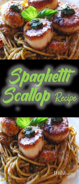 Spaghetti Scallop Recipe #Spaghetti #Pasta #Noodles