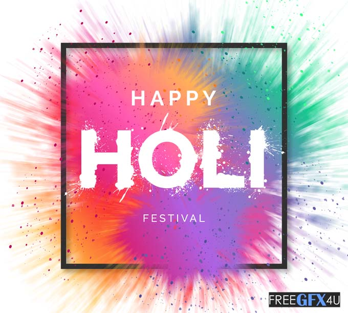 Happy Holi Festival Vector Background