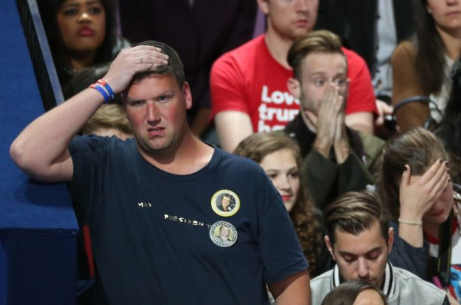 (Photos)Hillary Clinton Supporters In Shock,Tears As Donald Trump Inches Closer To The White House