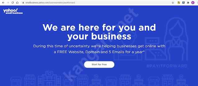 cara mendapatkan domain gratis dari yahoo small business