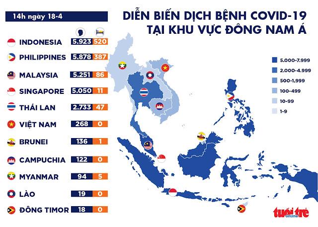 Tình hình dịch COVID-19 tại Việt Nam, ngày 18/4