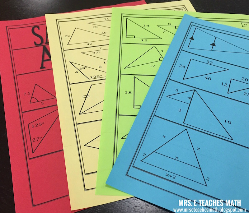 Similar Triangles Activity   mrseteachesmath.blogspot.com