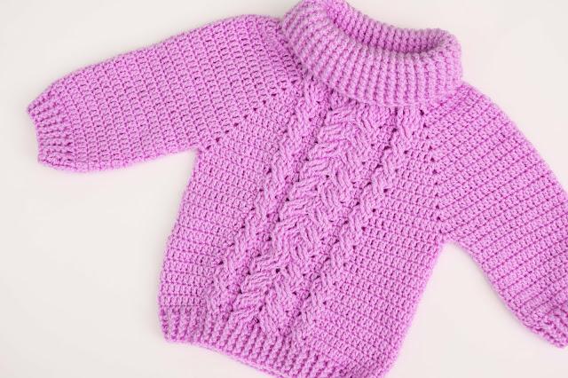 6-Crochet Imagen Jersey de espigas y ochos a crochet y ganchillo por Majovel Crochet