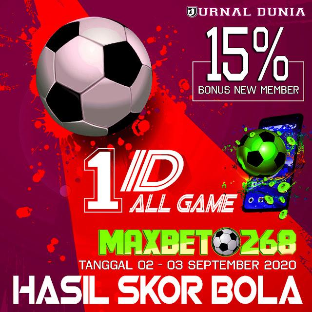 Hasil Pertandingan Sepakbola Tanggal  02 - 03 September 2020
