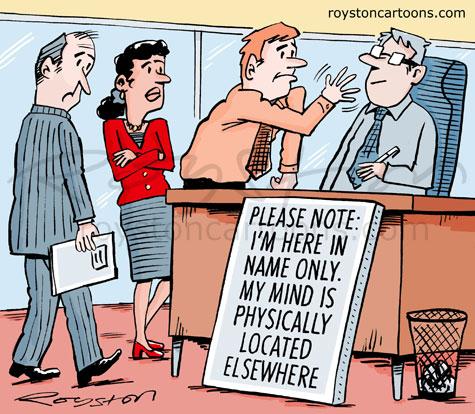 Royston Cartoons Out Of Office Cartoon