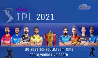 IPL Time Tabel 2021