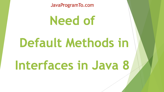 need for Default Methods inside Interfaces in Java 8