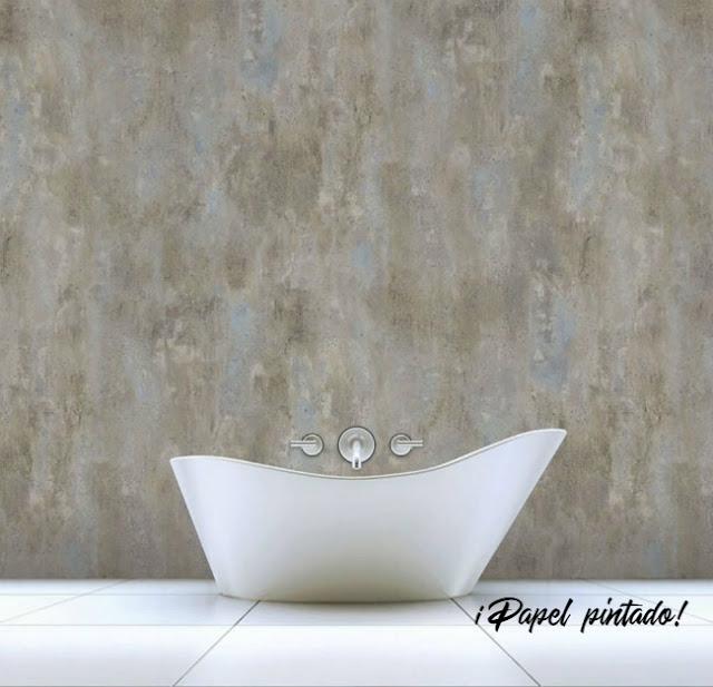 papel pintado baño novedad