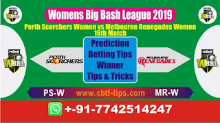 Who will win Today WBBL 2019, 16th Match MR-W vs PS-W 16th, WBBL T20 2019