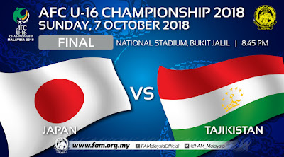 Live Streaming Japan vs Tajikistan AFC U16 7.10.2018