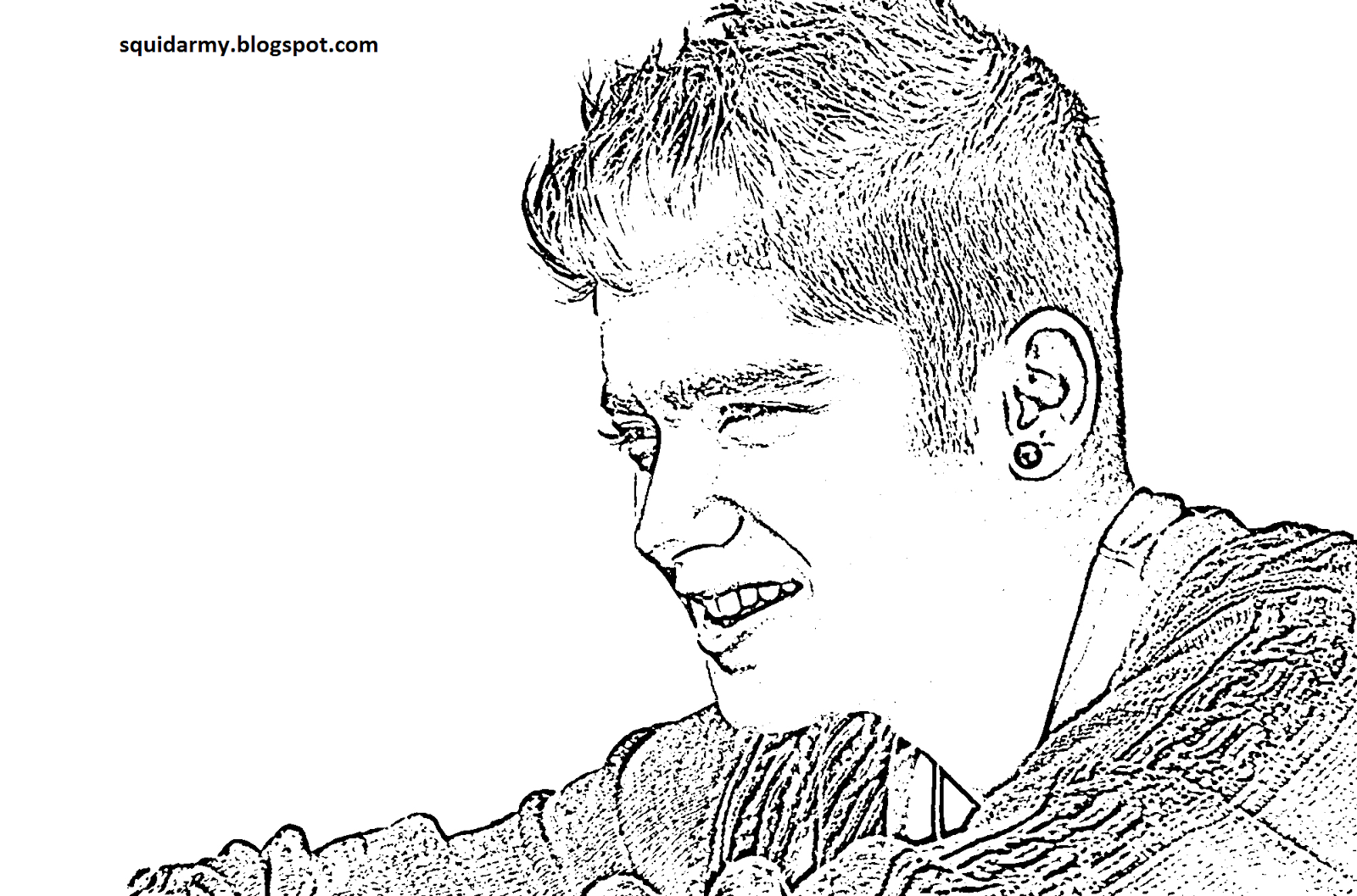 one direction coloring pages - malik