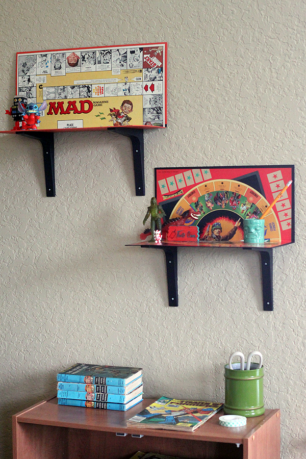 Modify make your own easy game board shelves 3 ways diy - Cool stuff to put in your room ...