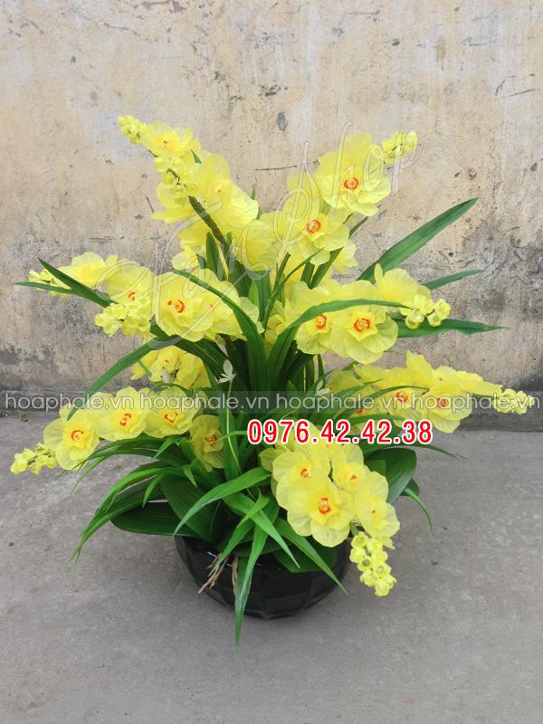 Hoa lan hồ điệp vàng - Hoa đá pha lê