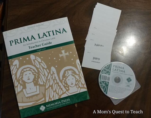 A Mom's Quest to Teach: Homeschooling Plans for Our Third Grader - What do we plan for our son's third grade year? Prima Latina Techer guide and materials