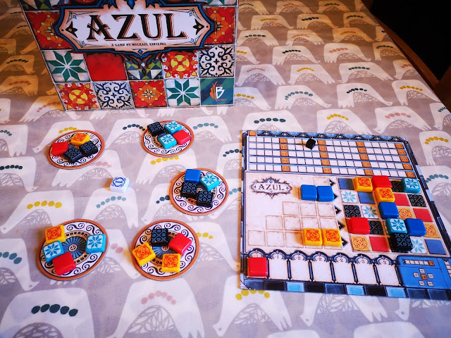 Azul board game set up
