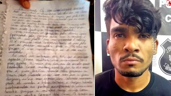 carta escrita lazaro barbosa entregue policia