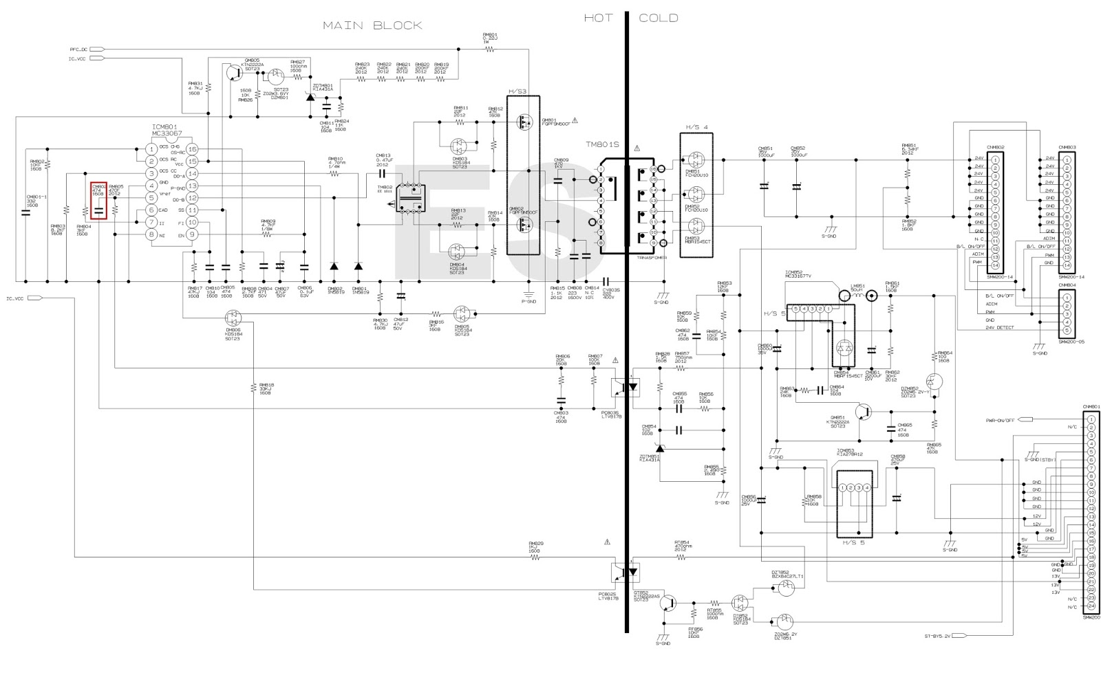 Power Supply Wiring Diagram Pdf Schematic Diagrams Pc Computer Atx Led Tv Schematics Insignia