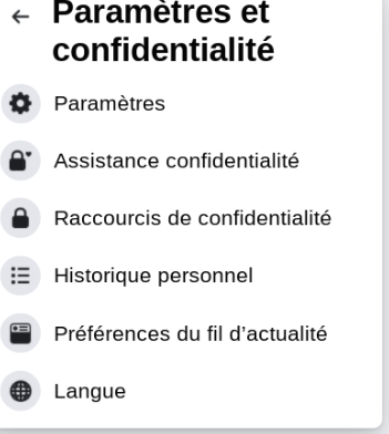 """Sélectionnez """"Paramètres et confidentialité"""", puis cliquez sur """"Paramètres""""."""