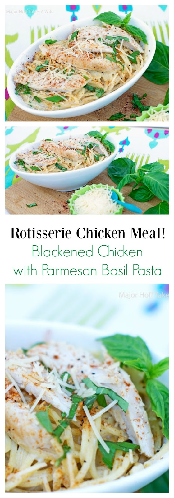 In a hurry to get dinner to the table? Looking for recipes using rotisserie chicken? This chicken rotisserie recipe for parmesan chicken pasta with blackening seasoning in under 30 minutes is just for you! You won't believe how effortless this meal is, especially when you taste it. Be sure to see the secret to getting this from stove to table fast! #EffortlessMeals #Chicken #Under30mins #pasta #ad #CollectiveBias