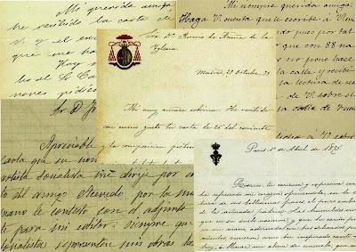 Algunas de las cartas del archivo de Rosario de Acuña